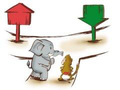 股票漫画 大象起舞