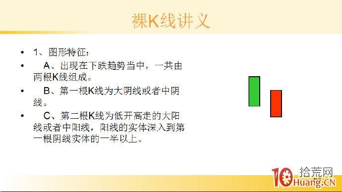 裸K线技术系统课程.44:两根看涨K线之曙光初现(图解),拾荒网