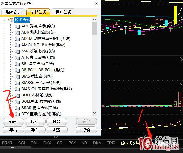 东方财富炒股软件,K线图实现涨跌停板K线不同颜色标注的方法(图解),拾荒网