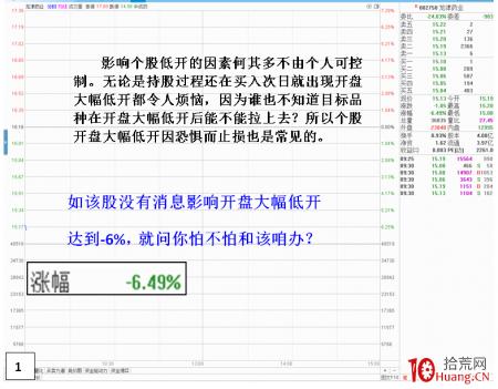 低开高走日内买股战法(图解)